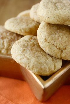 Pumpkin Snickerdoodles #pumpkin #cookies