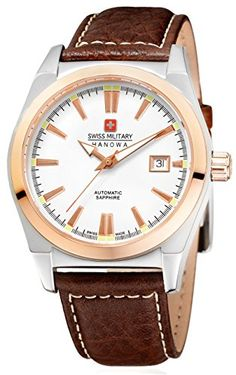 Swiss Military Hanowa Herren-Armbanduhr XL Analog Automatik Leder 05-4194.12.001 - http://uhr.haus/swiss-military-hanowa/swiss-military-hanowa-herren-armbanduhr-xl-leder-3