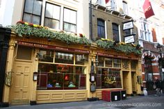 Spectre (2015) film location: Rules Restaurant, 34-35 Maiden Lane, Covent Garden, WC2. Moneypenny and Q appeal to the despondent M in the restaurant after unwelcome changes in MI6. Established by Thomas Rule in 1798, Rules is the oldest restaurant in London, specialising in such traditional British food as classic game cookery, oysters, pies and puddings.  http://www.movie-locations.com/movies/s/Spectre.html