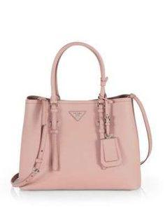 prada fake handbags - Prada - Glac�� Calf Small Twin Pocket Tote - Saks.com | Obsessions ...