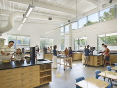 chemistry lab work at Westtown School Science Center, Westchester, PA | SMP Architects