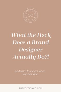 Looking for a brand designer to help you craft the perfect brand for your business? Here's the lowdown on what to expect in the branding process. Sales And Marketing, Online Marketing, Branding Process, Brand Guide, What The Heck, Branding Your Business, Starting Your Own Business, Fashion Branding, Brand You