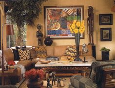 """Decorating with African art and textiles from """"9 Steps to Beautiful Living"""" by Cecil Hayes"""