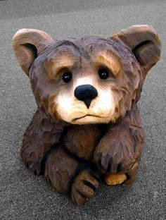 brown bear sitting by jackaburl Holzschnitzen , brown bear sitting by jackaburl brown bear sitting by jackaburl. Chainsaw Wood Carving, Dremel Wood Carving, Wood Carving Art, Wood Carvings, Wood Carving Designs, Wood Carving Patterns, Pallette, Wood Carving For Beginners, Bear Decor
