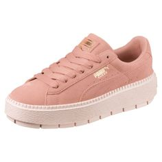 PUMA Sneaker 'Platform Trace' in altrosa Sneaker Outfits, Sneakers Fashion Outfits, Fashion Shoes, Sneakers Mode, Sneakers Street Style, Puma Sneakers, Lacoste Shoes Women, Puma Sports Shoes, Vans Shoes