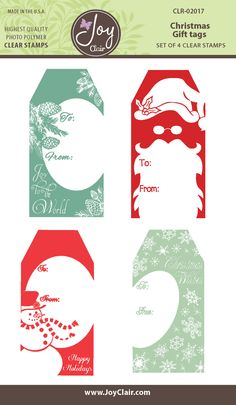 Christmas Gift Tags Clear Stamps - Joy Clair - 1