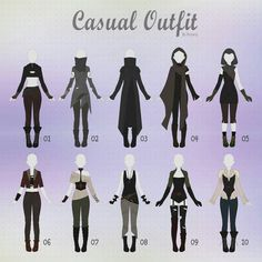 Anime outfits, cool outfits, casual outfits, drawing reference, drawing tip Fashion Design Drawings, Fashion Sketches, Anime Outfits, Outfits Casual, Cool Outfits, Super Hero Outfits, Pretty Outfits, Beautiful Outfits, Drawing Anime Clothes