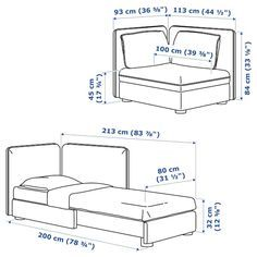 Ideas For Vallentuna Sofa Bed Module With Backrests Armchair Bed, Sofa Bed, Sectional Sofa, Ikea Vallentuna, Flexible Furniture, Steel Bed, Ikea Family