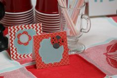 Ladybug Party Planning Series - Table Decor