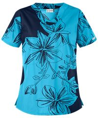 Update your style with fresh floral print scrubs at Uniform Advantage. The UA Floral Contrast Turquoise Print Scrub Top is a standout look for spring! Cute Scrubs Uniform, Uniform Advantage, Scrub Jackets, Elastic Waist Pants, Drawstring Pants, Scrub Tops, Printing On Fabric, Floral Prints, Turquoise