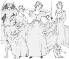 - Lady's Romantic Era Dress Sewing Pattern by Sense & Sensibility Dress Patterns, Sewing Patterns, Clothing Patterns, 3 10 To Yuma, Cowboys & Aliens, Different Necklines, Dances With Wolves, Long Sleeve And Shorts, Patterns Of Fashion