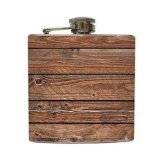 wood flask.