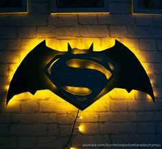 Easy DIY Pencil Practice Book zur Verbesserung der Feinmotorik - New Ideas Batman Vs Superman, Batman Room, Batman Art, Batman Batcave, Neon Light, Geek Room, Working Drawing, Geek Decor, Geek Gadgets