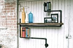 Seems to be a rash of these industrial pipe shelves. Lots of different configurations