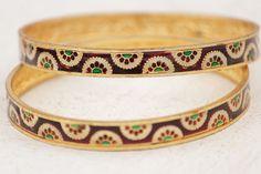 Indian Bangles Meenakari Bangles Rose Gold Designer by HandyStar