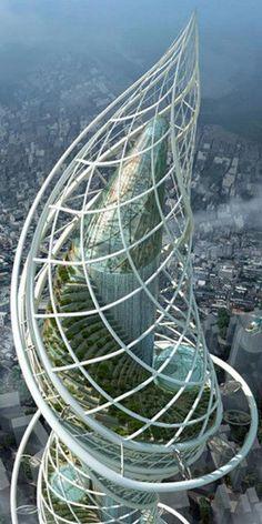 James Law Cybertecture - Wadala Tower: Bombay, India #rascacielos #edificios #skyscrapers #buildings #futuristicarchitecture