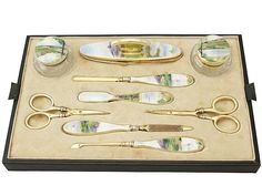 'Antique Dressing Table Set with Silver & Glass' http://www.acsilver.co.uk/shop/pc/Sterling-Silver-Cut-Glass-and-Guilloche-Enamel-Dressing-Table-Set-Antique-George-V-p5358.htm