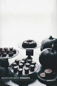 Halloween Gone Glam: monochromatic #dessert table  Read more - http://www.stylemepretty.com/2013/10/31/halloween-gone-glam-7-ways-to-celebrate-with-style/