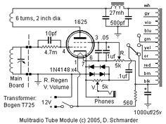 Dave Schmarder's Multi Radio Tube Detector Schematic