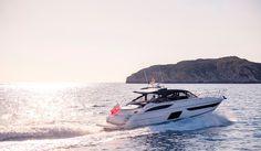 The Princess Open sports yacht off the coast of Mallorca Princess Yachts, Sport Yacht, Luxury Yachts, Models, Luxury Life, Girls, Coast, Sports, Design