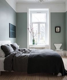 Sage green bedroom ideas walls wall color with traditional white fireplace . Green Bedroom Paint, Green Master Bedroom, Green Bedroom Design, Sage Green Bedroom, Sage Green Walls, Blue Bedroom Walls, Design Your Bedroom, Cozy Bedroom, Bedroom Decor