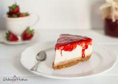 Porción de tarta de queso - Dulcespostres