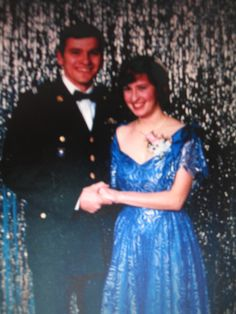 This is my husband and myself at a military ball in college. Bill was an officer in the army and deployed in support of Operation Desert Storm. He earned a Bronze Star for his service in that conflict.