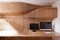 Chelsea Workspace Wood Desk by Synthesis Design + Architecture
