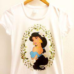 Jasmine Floral Shirt   Aladdin Tee   Disney Princesses