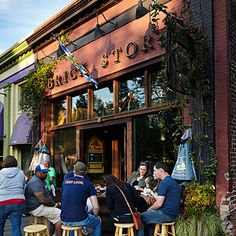 Atlanta Bars: Brick Store Pub | The Brick Store Pub will surprise you with its warm and family-friendly atmosphere; kids can nibble on Bavarian pretzels and butter bean hummus while adults choose from among the 30 drafts, local and otherwise, on tap at the main bar.