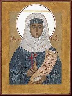 I love Hildegard of Bingen -   previous pinner said:  a warrior woman whose influences were ahead of her time. Medicine woman, music composer/performer, artist, pioneer thinker/trail-blazer of early church and spirit master