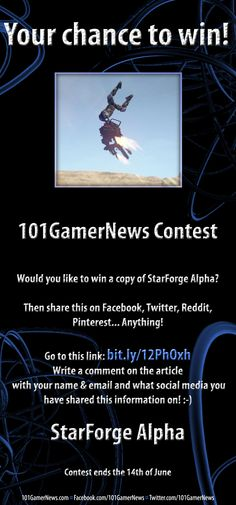 Here is your chance to win a PC Game with 101GamerNews! Check out this pin for more information!