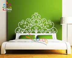 Headboard Decal Vinyl Wall Decal Headboard Wall by coocoodecal
