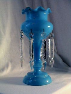 Blue Victorian Mantle Lustre