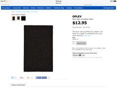 3x black doormats