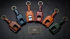 Handmade leather Honda HRV car key case with name stamping service (made to…