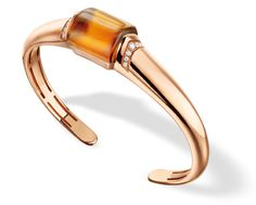 Bulgari MVSA bracelet with citrine and diamonds set in pink gold.