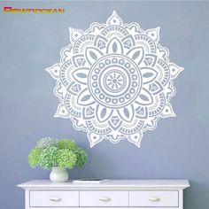 Mandala yoga decoración para el hogar extraíble pegatinas de vinilo de pared decoración del hogar salón símbolo om namaste mehndi tatuajes de pared ma-02