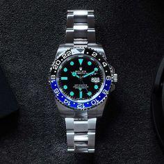Awesome shot of Rolex GMT Master II aka Batman from @costachrist | http://ift.tt/2cBdL3X shares Rolex Watches collection #Get #men #rolex #watches #fashion