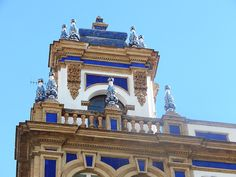 I love the rich and vibrant blue tiles on this building in Seville.