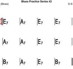 [Blues Practice Series Blues Backing Track (E Key Tempo * 23 different kind of Blues Progression for Solo practice in different Blues Rhythm - Sheet Music Jazz Standard, Kind Of Blue, Backing Tracks, Rhythm And Blues, Blues Rock, Guitar Chords, Bass, Sheet Music, Gardening