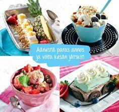 Äänestä oma suosikkisi bloggaajien loihtimista jäätelöannoksista ja voita koko kesän jätskit! Kisa nyt käynnissä Pirkka.fissä 2.5. asti!