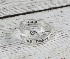 Sterling Silver Personalized Wrap Ring  by CharitableCreations