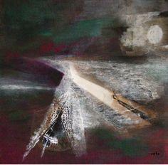 Collage mit Gouache und Acryl 40x40