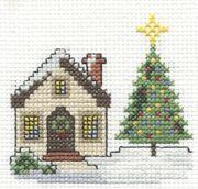 Free Christmas cross stitch chart using DMC Mouline stranded cotton