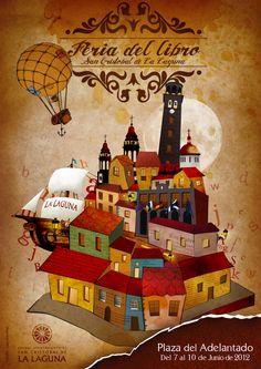 """Julio Escobar Jiménez: Cartel """"Feria del Libro"""" La Laguna 2012"""