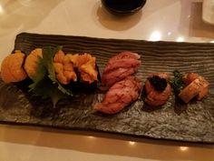 Two types of uni aburi toro and monkfish liver two ways. #sushi #food #foodporn #japanese #Japan #dinner #sashimi #yummy #foodie #lunch #yum