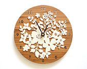 Cheap bamboo wall clock, Buy Quality designer wall clock directly from China wall clock Suppliers: Sale Duvar Saati Reloj Bamboo Wall Clock Vintage Style Countryside Natural Decoration Circular Flower Design wedding decoration Flower Wall Wedding, Wedding Flower Decorations, Flower Wall Decor, Flowers Decoration, Wedding Bouquets, Wedding Flowers, Decor Wedding, Laser Cut Wood, Laser Cutting