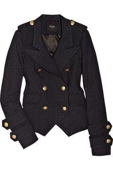 military-inspired blazer