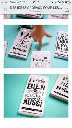 Beliebt pochette tablette de chocolat, remerciement maîtresse, atsem  LL56